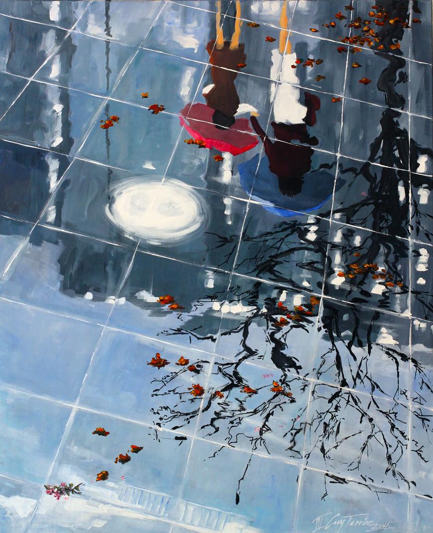 Guy Terrier - Tokyo, trottoir miroir - etude II -