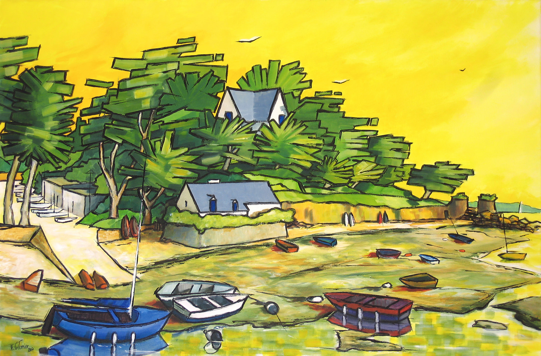 Guy Terrier - Arradon à marée basse-2
