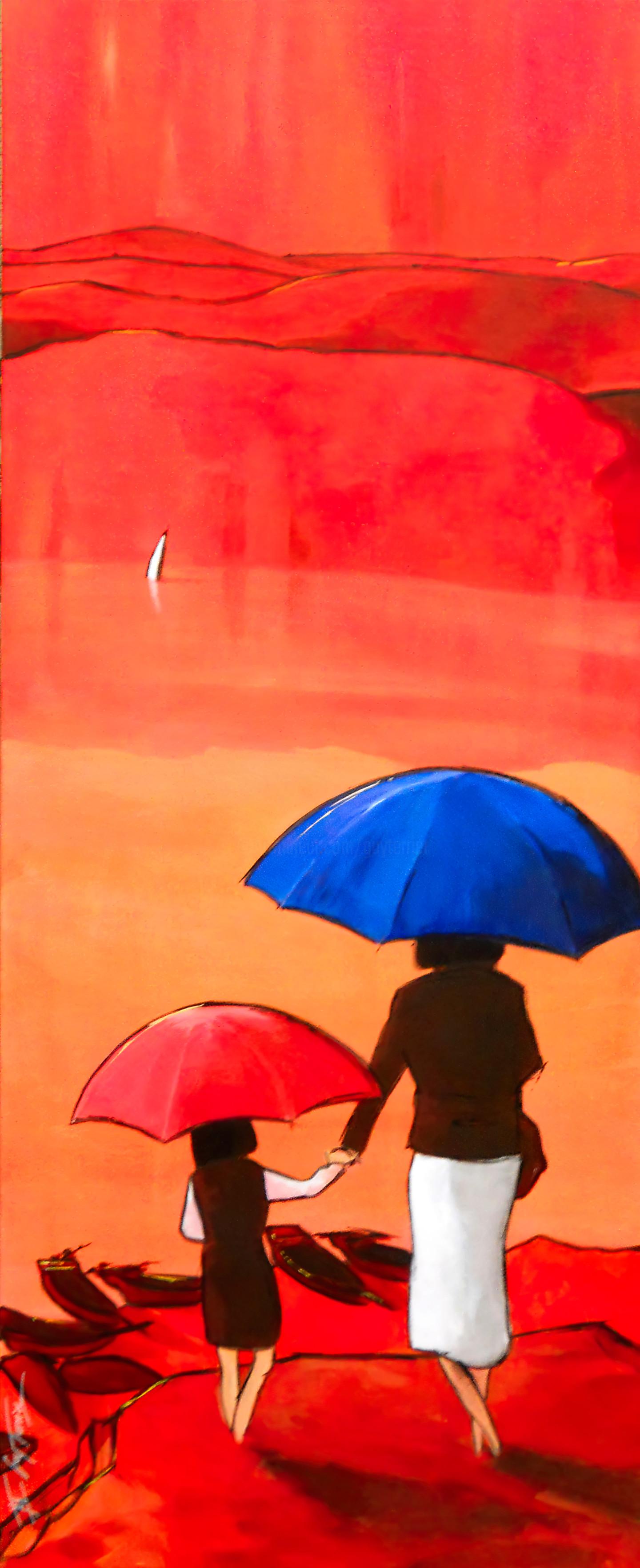 Guy Terrier - Tokyo, rouge triptyque estamplatif