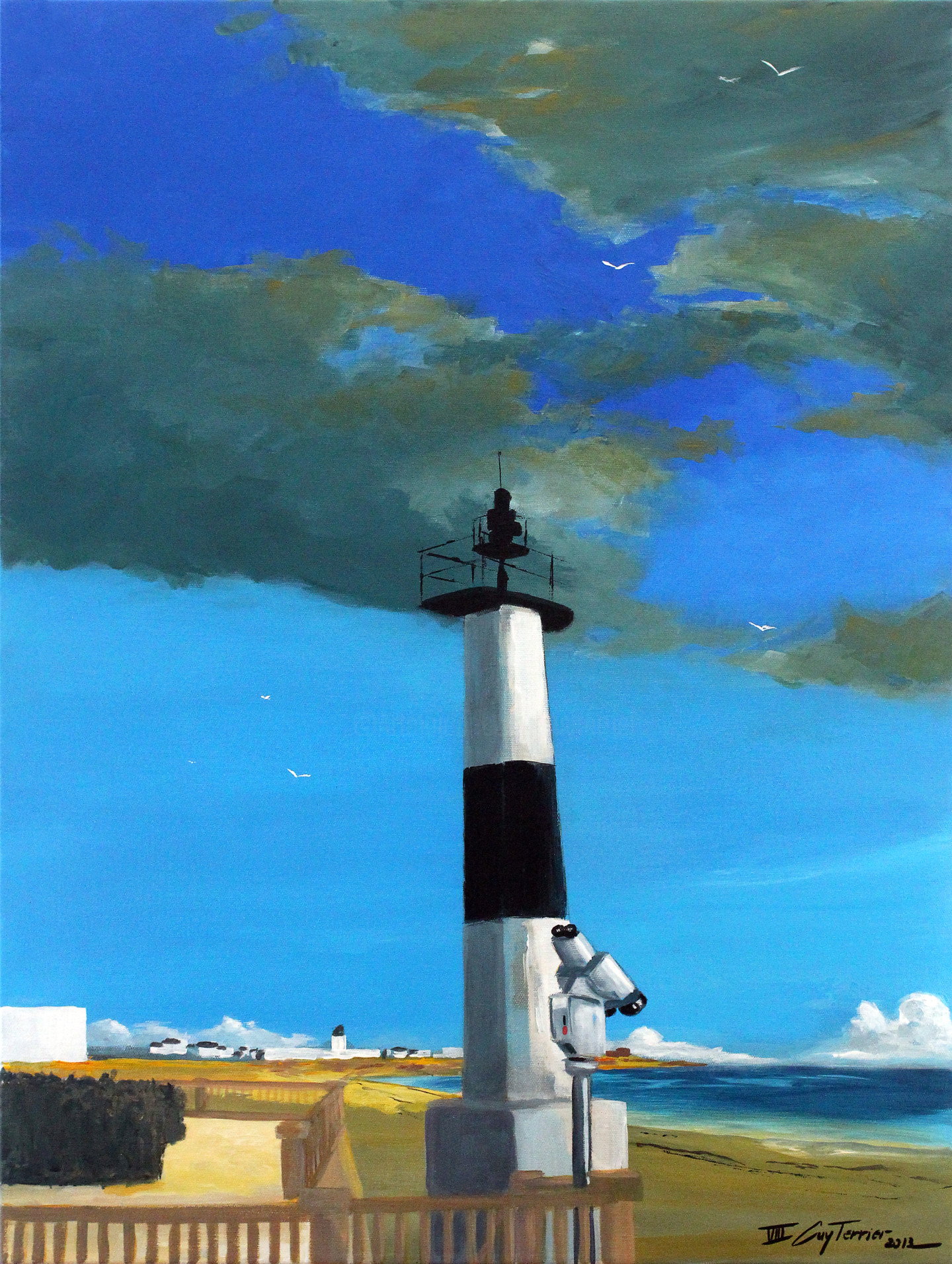 Guy Terrier - Quiberon, la grande plage, étude