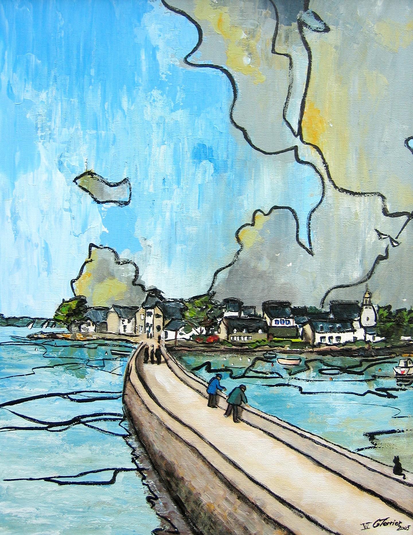 Guy Terrier - Le village de Saint Cado