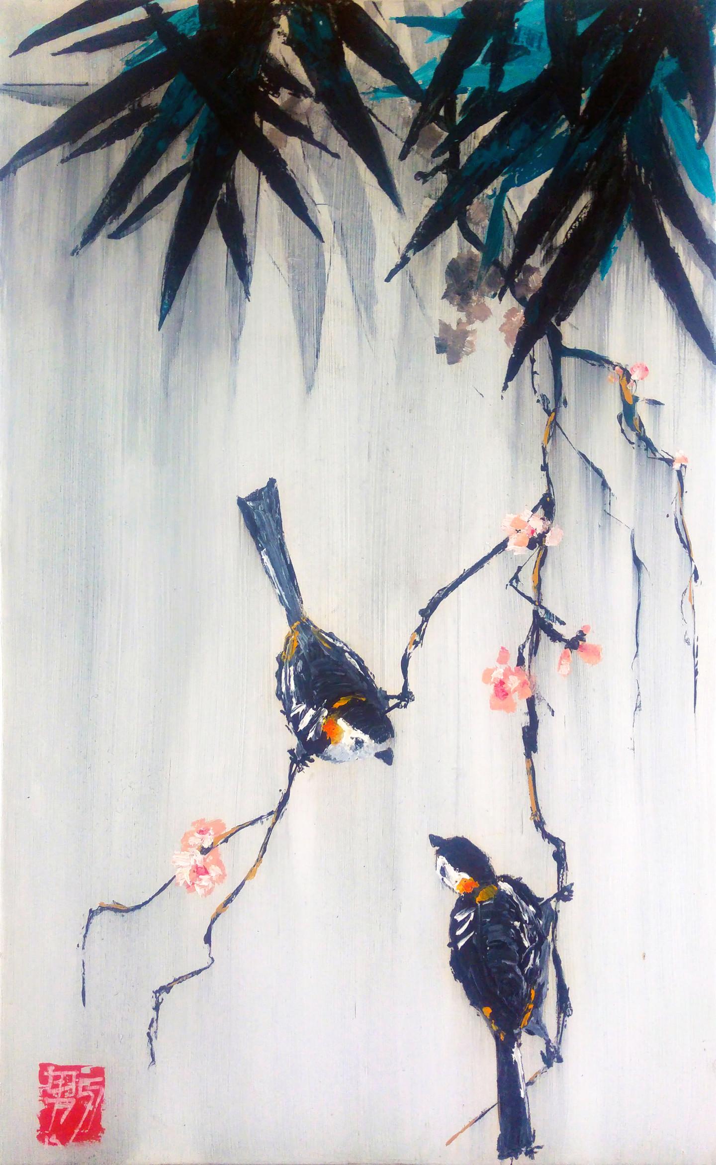 Guy Terrier - Estamplatif, les deux oiseaux