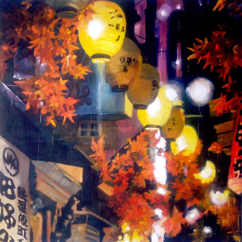 Guy Terrier - Tokyo, une allée aux lanternes