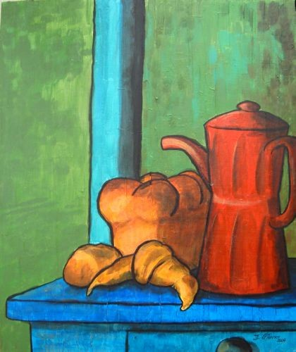 Guy Terrier - La cafetière rouge