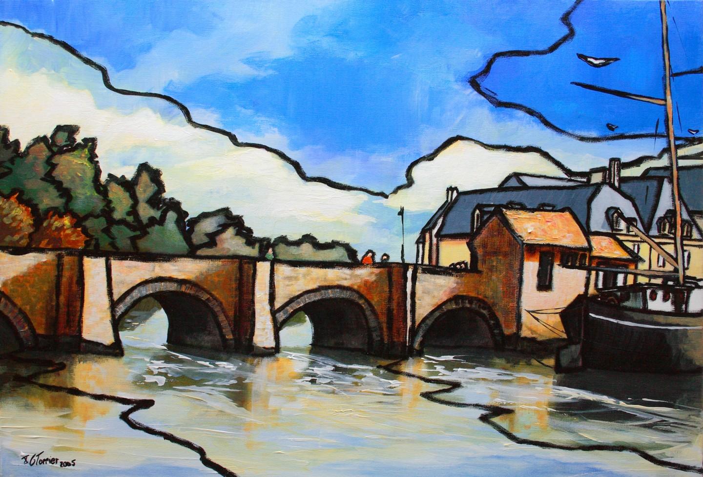 Guy Terrier - Le pont de Saint Goustan
