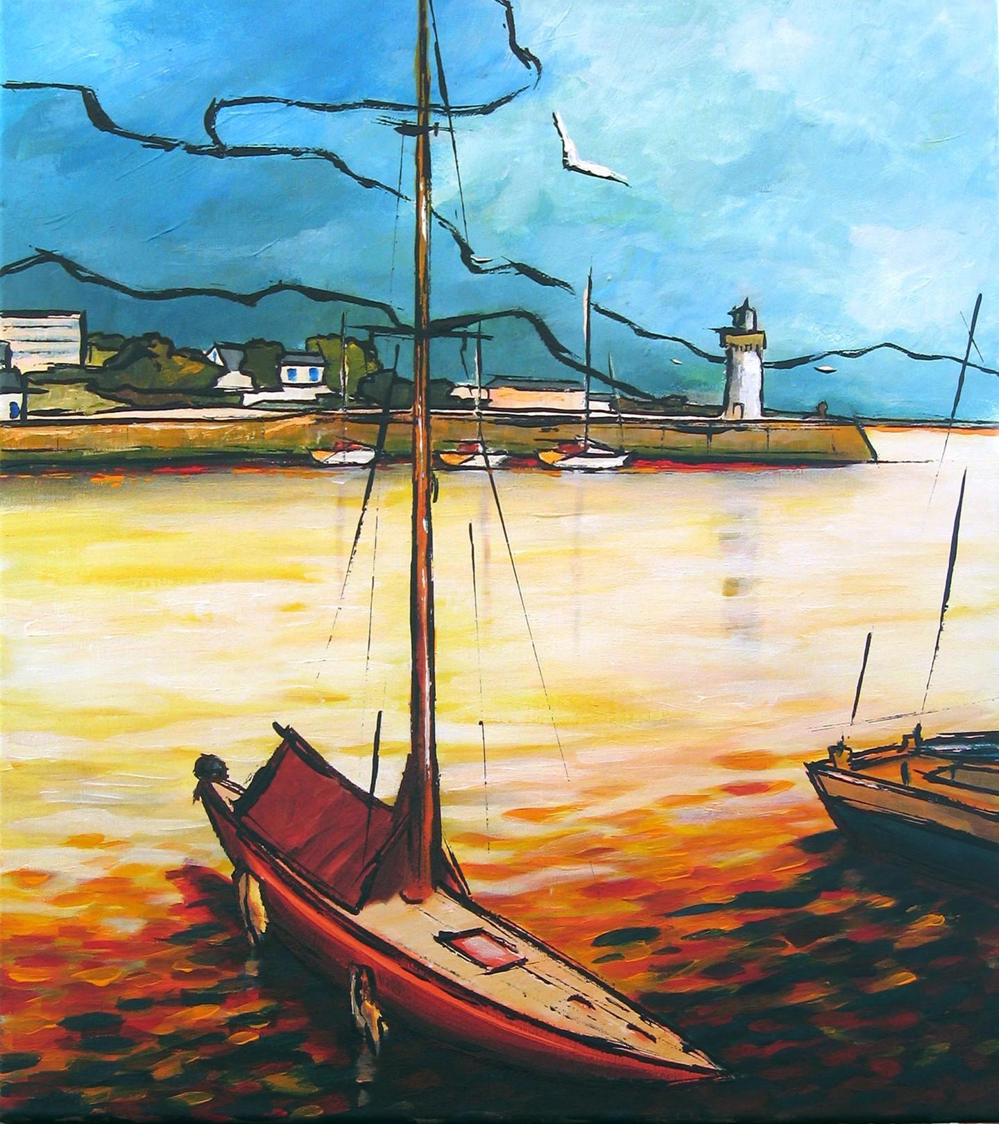 Guy Terrier - Port-Haliguen, le phare