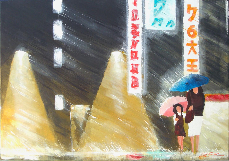 Guy Terrier - Tokyo, la petite fille au parapluie