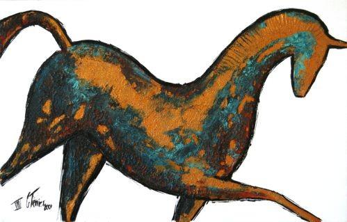 Guy Terrier - Cheval antique