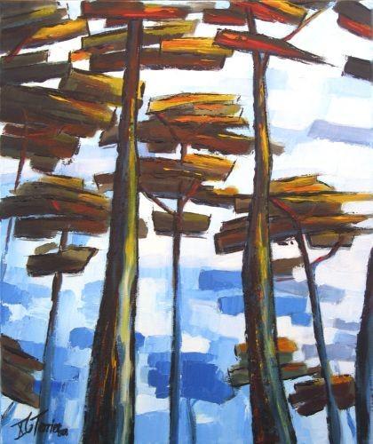 Guy Terrier - Sous les pins, bleu