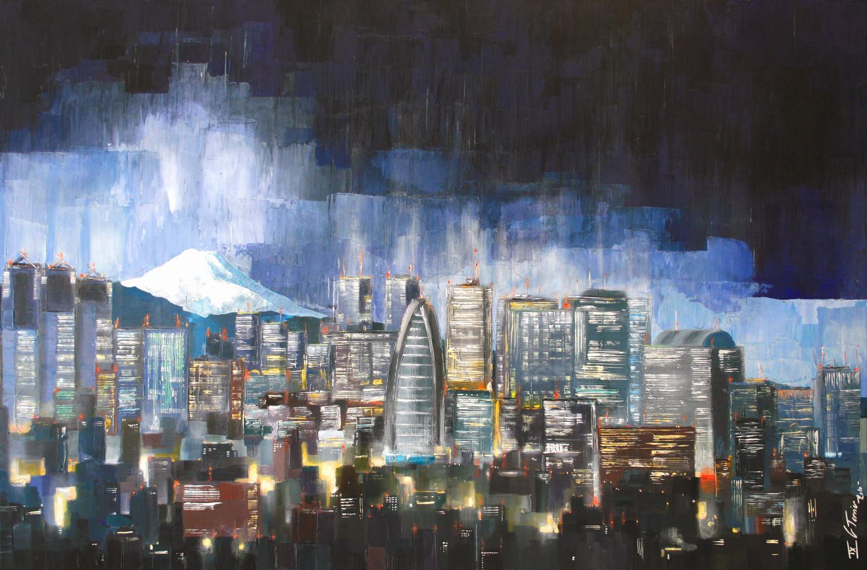 Guy Terrier - Tokyo, Shinjuku les lumières de la ville