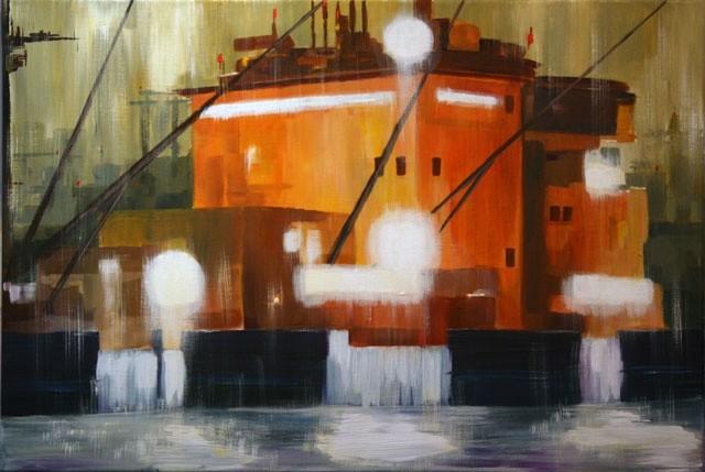 Guy Terrier - Tokyo, le port - tanker