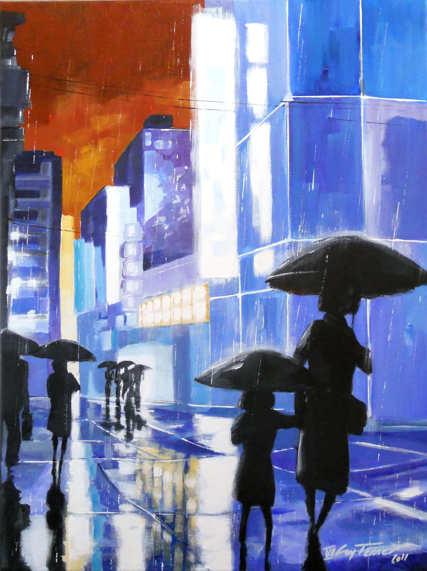 Guy Terrier - Tokyo, Shinjuku la rue bleue