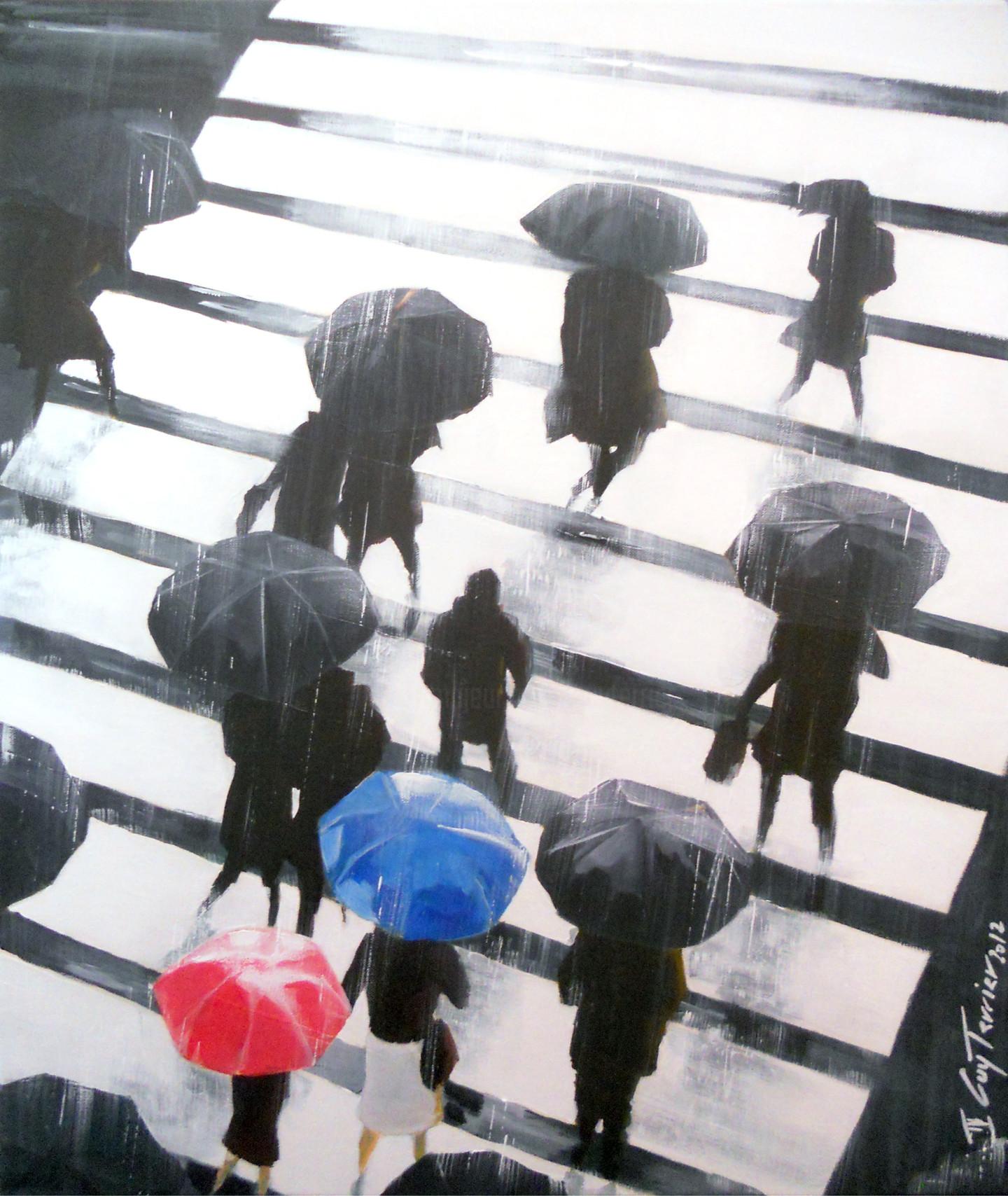 Guy Terrier - Tokyo, le passage pietons