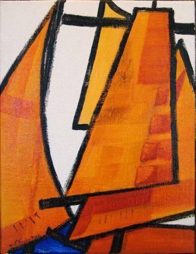 Guy Terrier - Voiles oranges 2