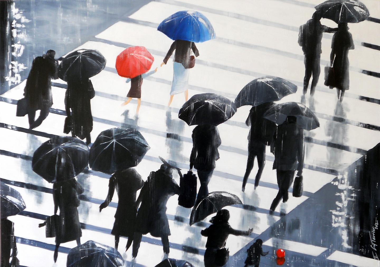 Guy Terrier - Tokyo, les passants de la pluie