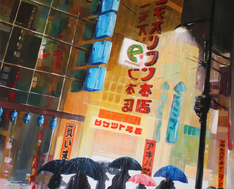 Guy Terrier - Tokyo, les passants de la pluie 2