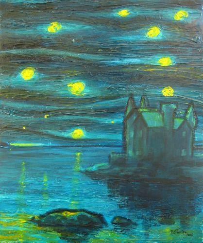 Guy Terrier - Nuit, le chateau Turpault