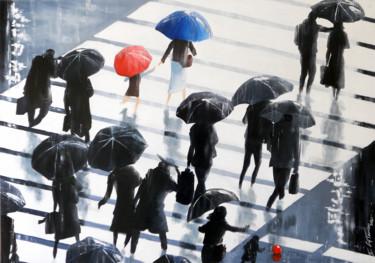 Tokyo, les passants de la pluie