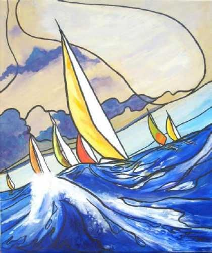 Guy Terrier - Voiles en haute mer