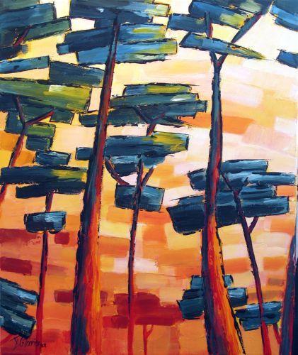 Guy Terrier - Sous les pins, rouge
