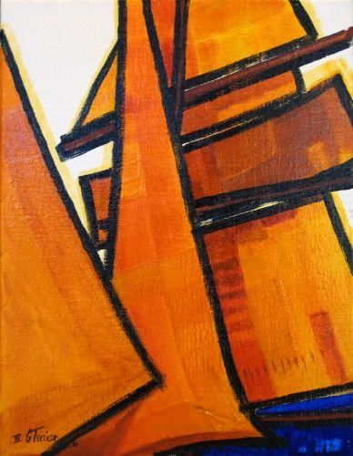 Guy Terrier - Voiles oranges 1