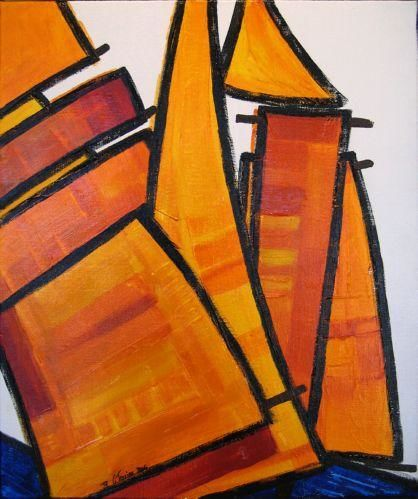 Guy Terrier - Voiles oranges 3