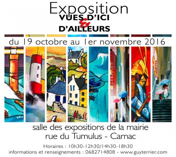 Exposition solo,  Guy Terrier,  Bretagne,  Japon,  Variations N,  fractales